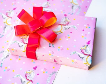 Trick Horse Pink Wrapping Paper