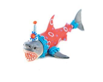 Party Animal Shark- painted carnival, circus, and birthday decor