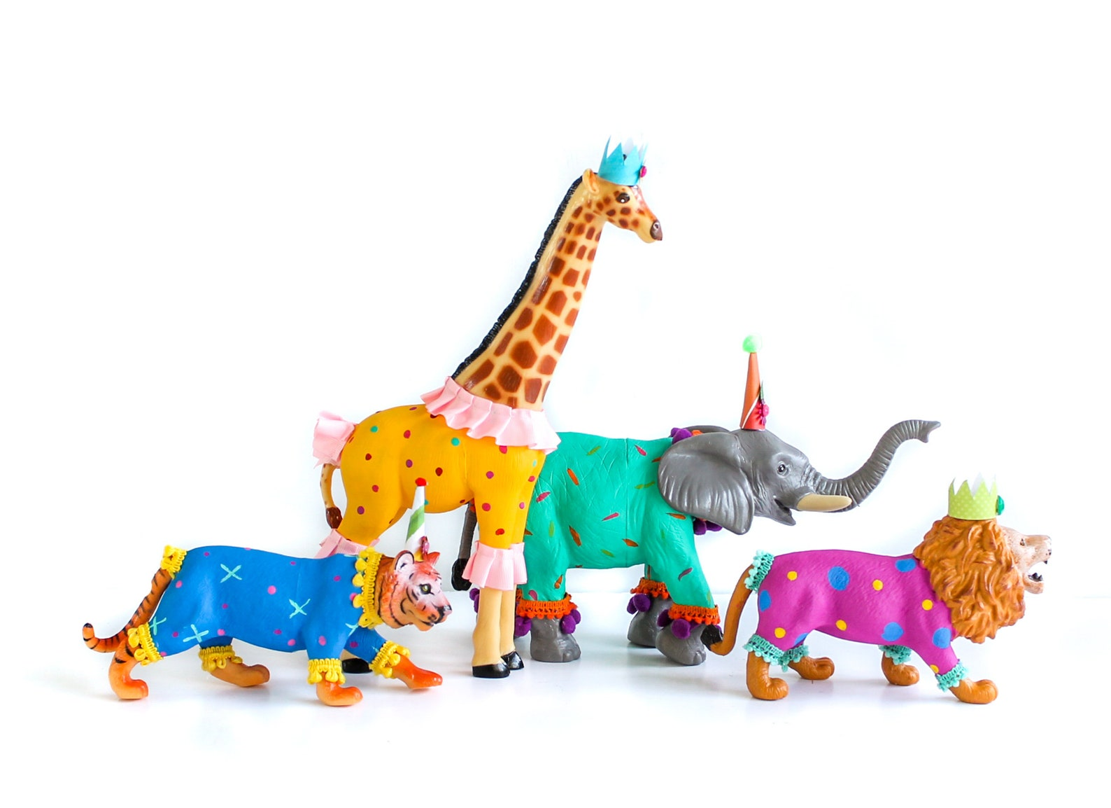 Circus Animal Cake Toppers by Painted Parade