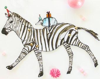 Zebra Paper Doll