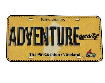 2017 ADVENTURE AWAITS - Row by Row Experience Fabric License Plate Panel - On The Go