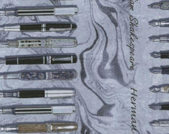 Renaissance Pens- Quilting Cotton; by the half yard]]