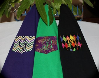 Monogrammed Pocket T-Shirt, Tee, Tshirt, the New Orleans Mardi Gras Collection