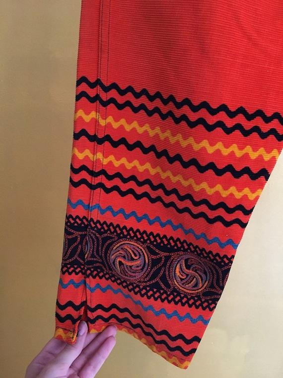 VLV 50s orange corduroy capri pants