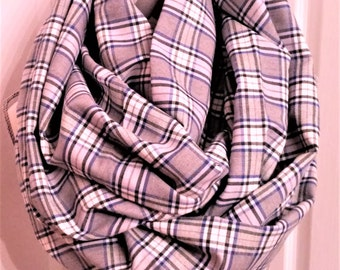 Fall Scarves, Infinity Scarves, Ladies Scarves, Mens Scarves, Chunky Scarves, Loop Scarf, Accessories, Fashion Scarves, Gray Plaid Scarves