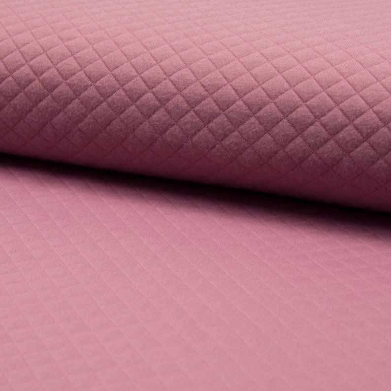 Quilted Sweatshirt Jersey 12 Metre Fabric Sewing stretch material Old Rose