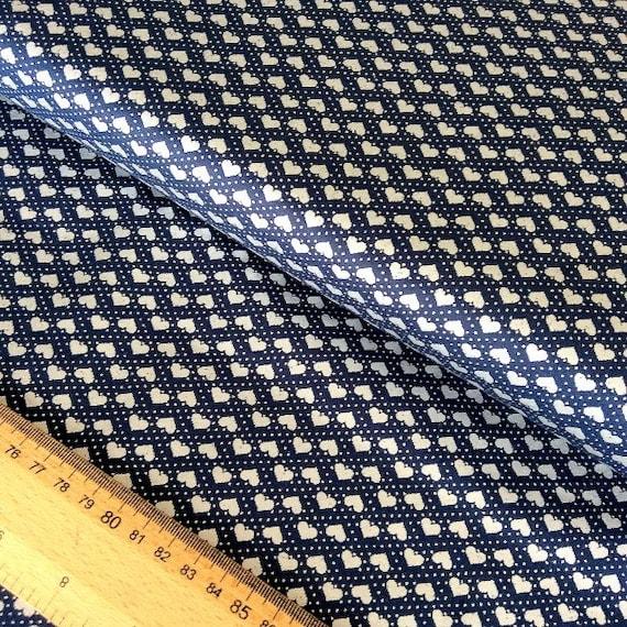 100/% Cotton Fabric Makower  Tiny Robins and Stars Silent Night Design