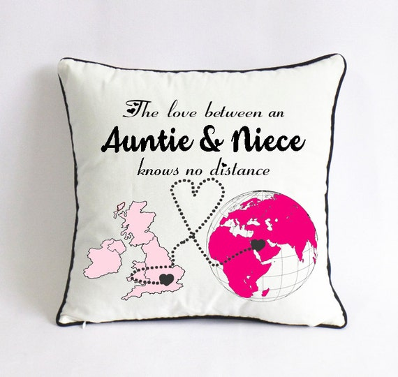 Auntie niece pillow case uk world map gift aunt mothers day etsy image 0 gumiabroncs Images