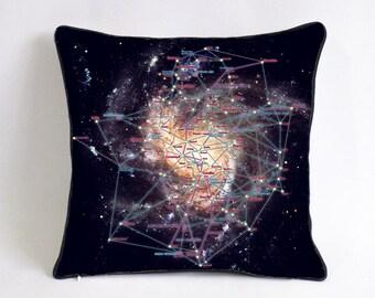 star war empire cushion- navy blue galaxy pillowcase-nebula room decor-boyfriend gift-geometric star space bedding pillow-college dorm decor