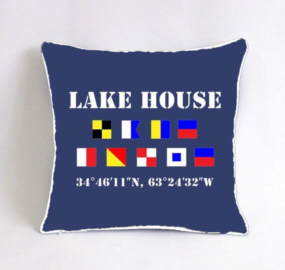 bd0317fa3ae custom lake house pillow-nautical flag pillow cover-coastal
