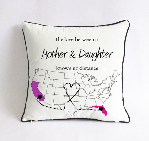 Long Distance Mom Daughter Pillow Case Birthday
