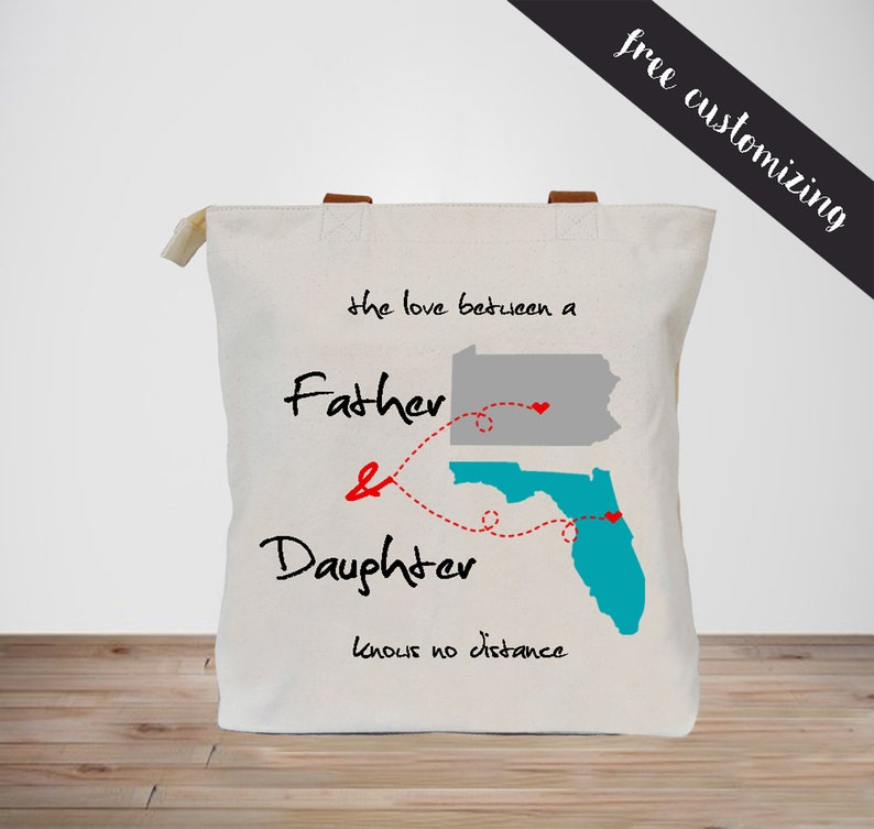 Thick Custom Father Daughter Tote Bag Birthday