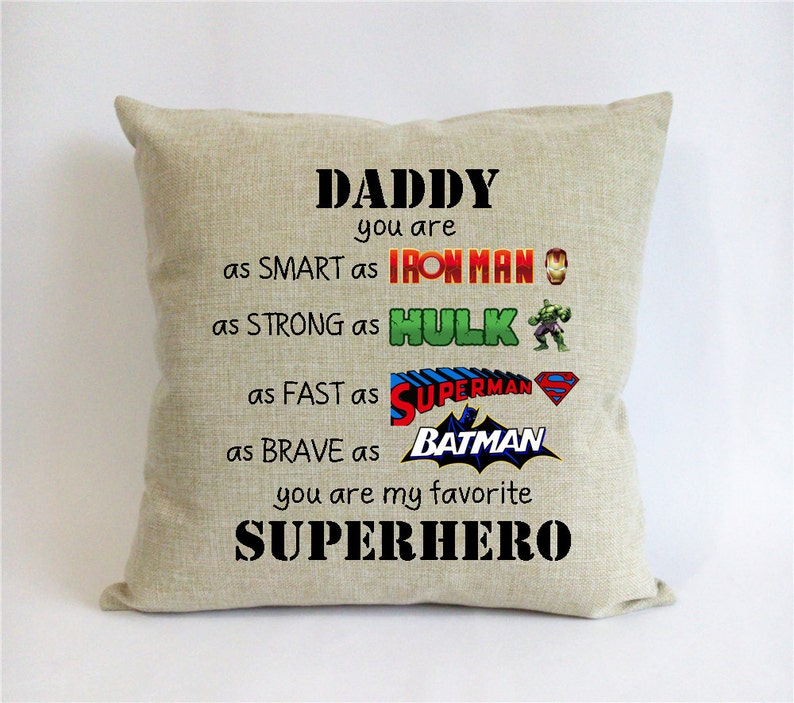 Superhero Father Son Gift First Fathers Day From