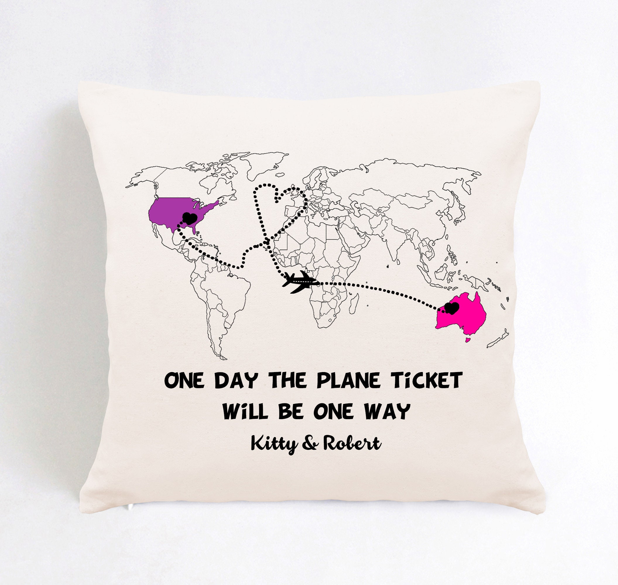For long distance couples pillows Long Distance