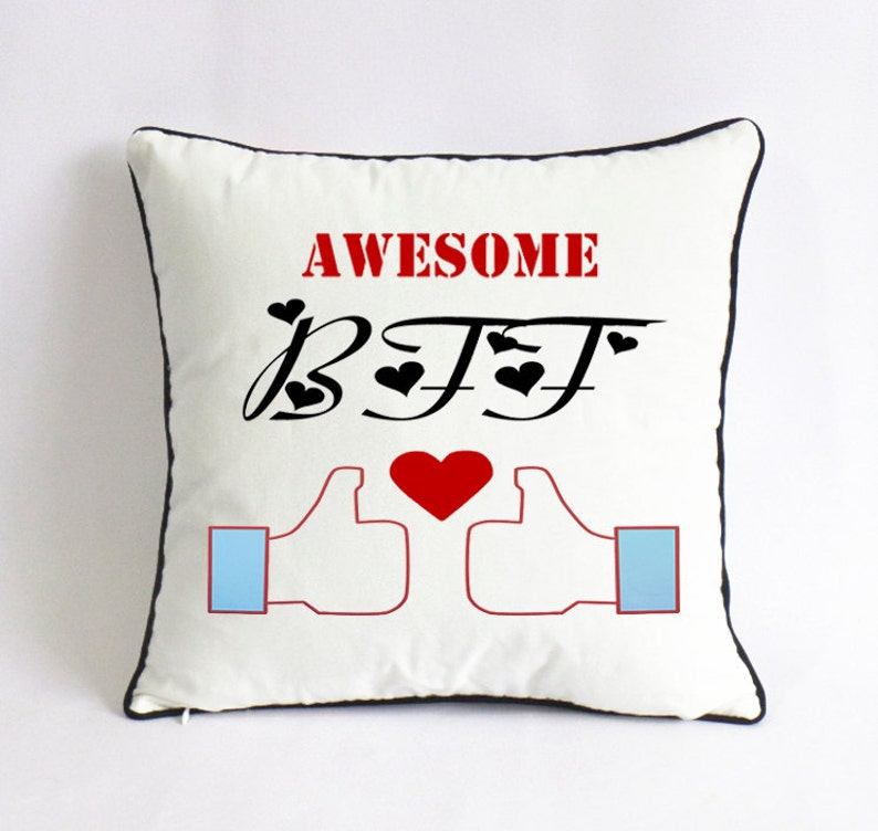 Awesome BFF Pillow Best Friend Birthday Gift Custom Boys Room