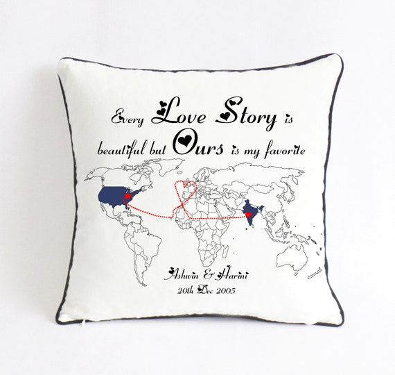 Love Story Pillow Gift Set Thinking