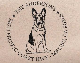 Custom Address Stamp German Shepherd Dog Return Address Stamp Customized Housewarming Gift Wedding Stamp Save The Date Stamp Dog Lover Gift