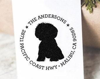 Custom Address Stamp Maltese Dog Return Address Stamp Customized Housewarming Gift Wedding Save The Date Stamp Gift Idea Christmas Gift