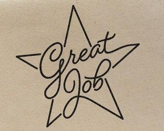 Teacher Stamp Custom Great Job Star Teacher Classroom Stamp Teacher Appreciation Day Gift Back To School Five Stars Teacher Review