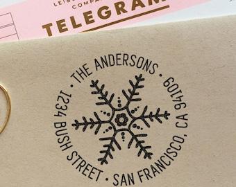 Return address Stamp, holiday stamp, customized gift for christmas, housewarming, christmas, weddings, rubber stamp, return address stamp
