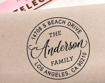 Custom address stamp, Cute Return Address Stamp, Modern Address Stamp, Wedding Stamp, Gift For Her, DIY Wedding, Self Ink, Christmas Gift