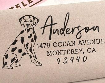 Custom Address Stamp Dalmatian Dog Return Address Holiday Gift Dog Address Stamp Wedding Gift Self Inking Rubber Stamp Housewarming