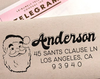 Cute Christmas Return Address Stamp Santa Clause Holiday Gift Idea Stocking Stuffer Christmas Mail Merry Christmas Address Stamp Snow Winter