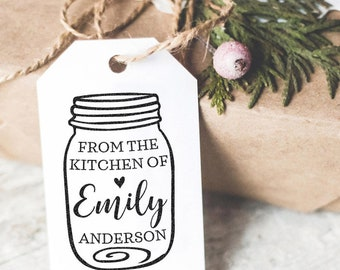 Custom Stamp, From The Kitchen Of, Mason Jar Stamp, Custom Name Stamp, Cooking Labels, Gift For Her, Kitchen Stamp, Gift Basket,Recipe Ttamp