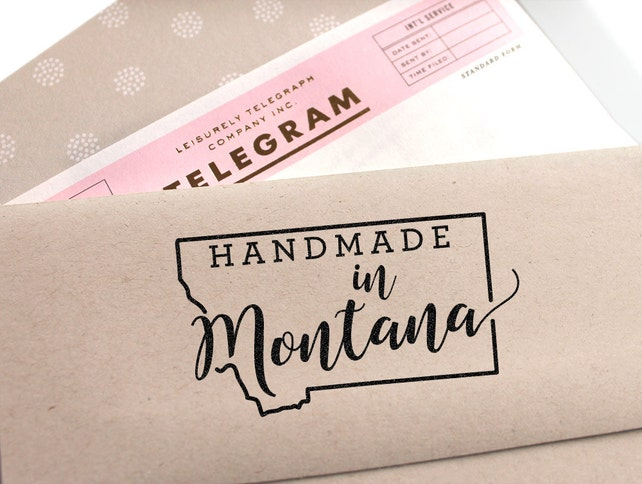 Custom handmade in Montana State Stamp, stamp it on everythinging your like, makes a great gift