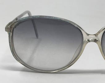 8720e66de68 Vintage 70s Gray Silver Plastic Butterfly Big Eye Glasses by Jordan Eyewear  Tinted Sunglasses