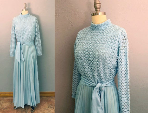 vintage 70s evening gown   medium   formal gown  