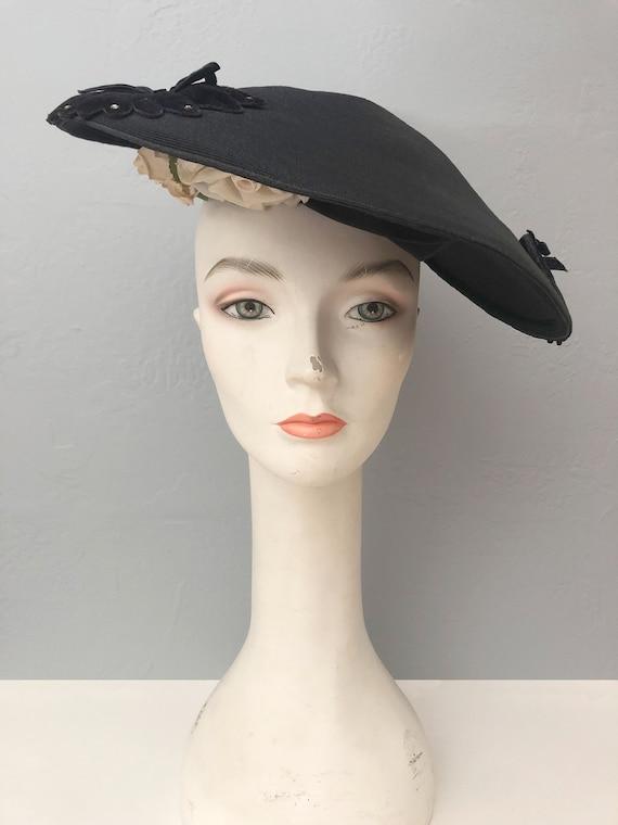 vintage 1930s Gage Original wide brim straw hat f… - image 2