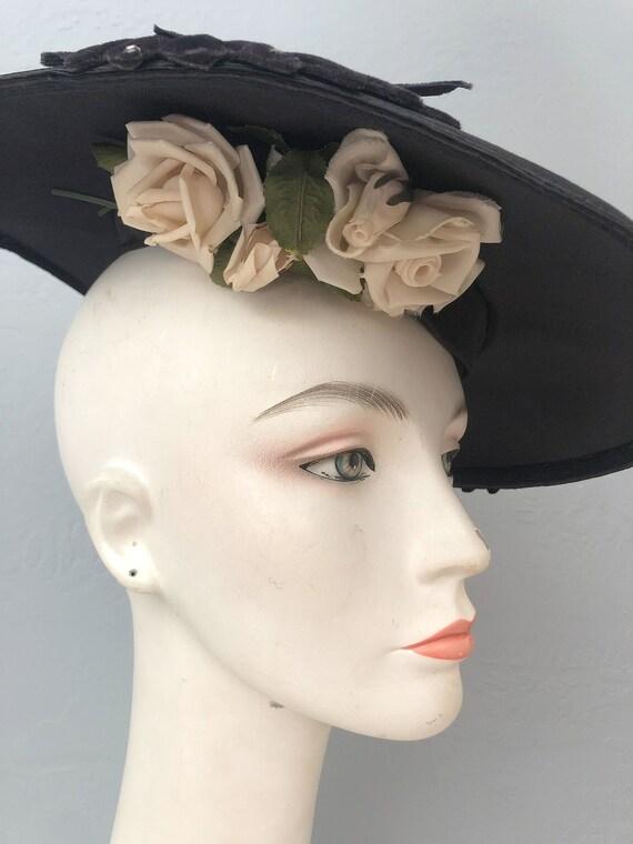 vintage 1930s Gage Original wide brim straw hat f… - image 4