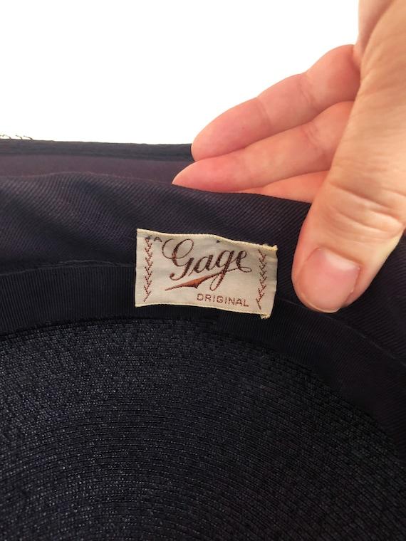 vintage 1930s Gage Original wide brim straw hat f… - image 10