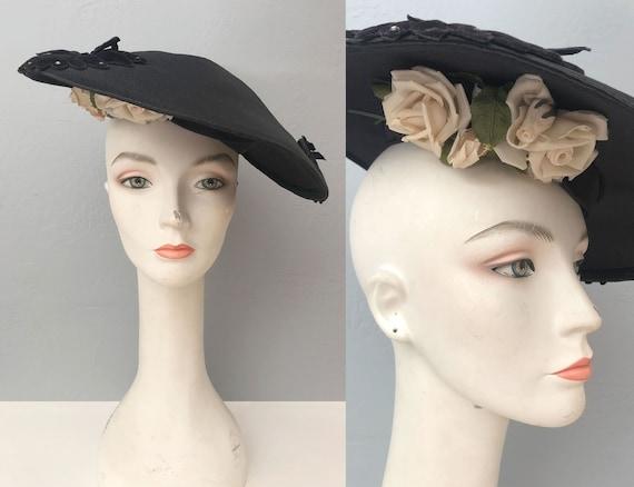vintage 1930s Gage Original wide brim straw hat f… - image 1
