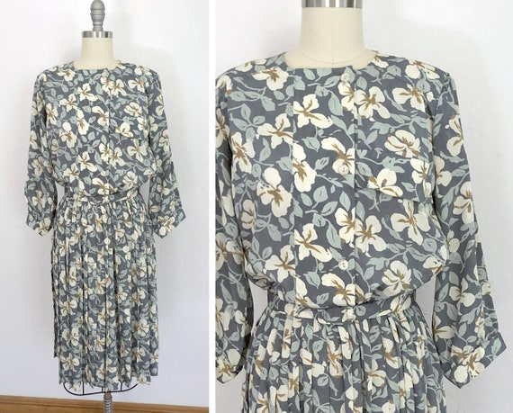 1970s floral day dress | medium | victorian dress