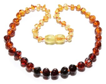 Genuine Amber Bracelet/anklet Child-adult Knotted Beads Sizes 13-25 Cm Earrings Jewelry & Watches Baby