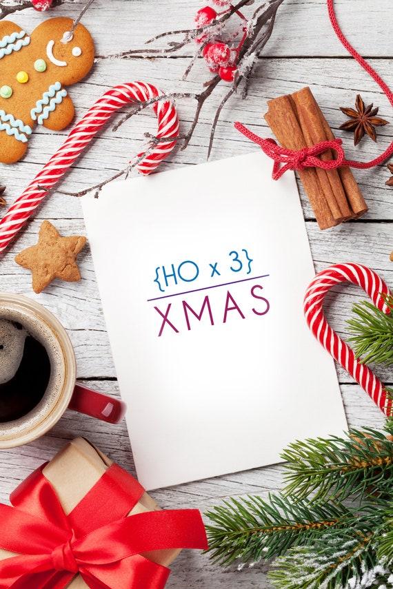 Mathematics Christmas Card | Etsy