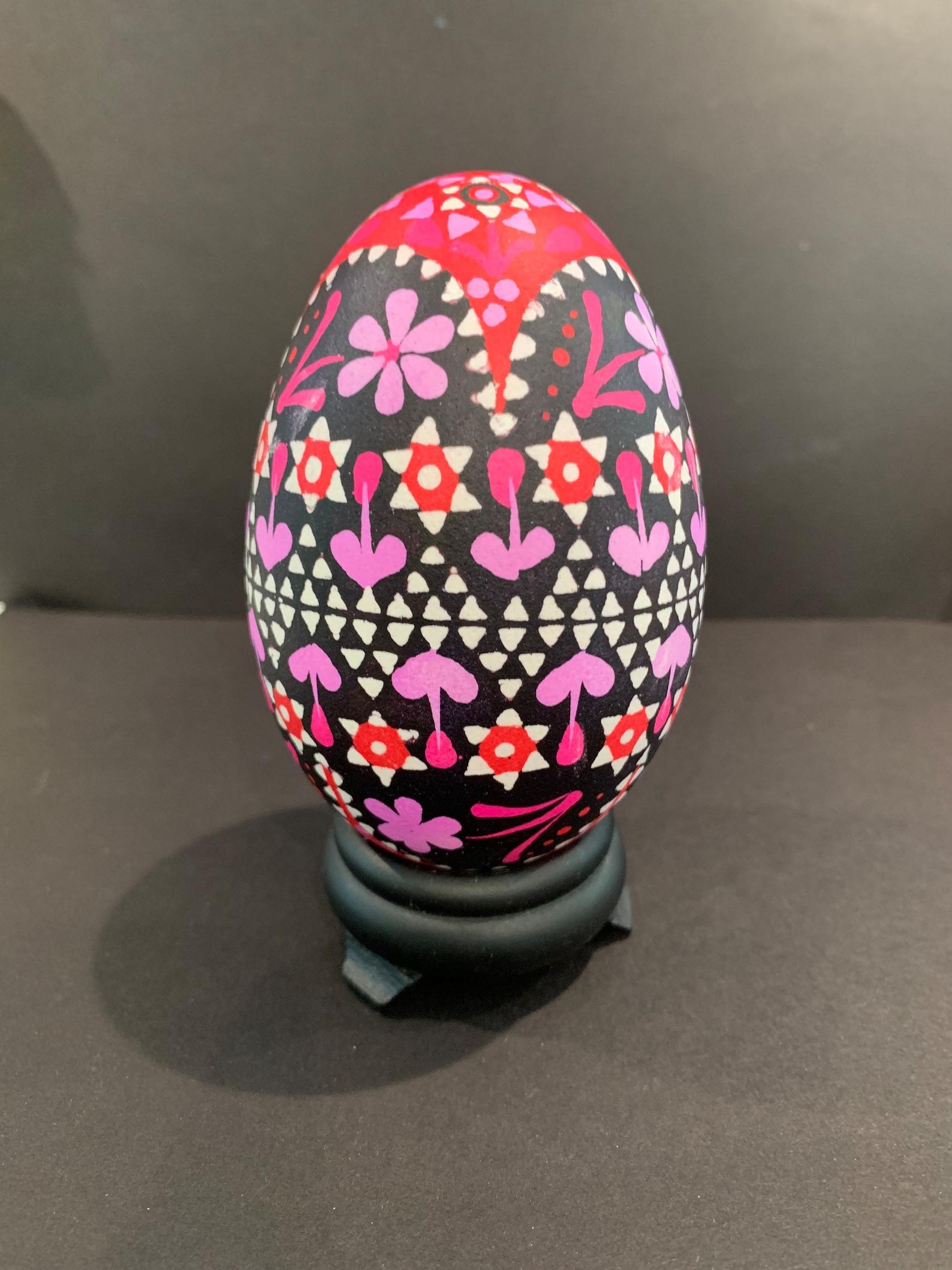 Pink & Red Sorbian Goose Egg