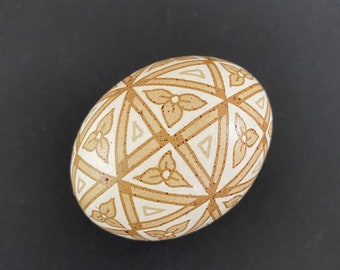 48 Triangles Brown Chicken Egg Pysanky