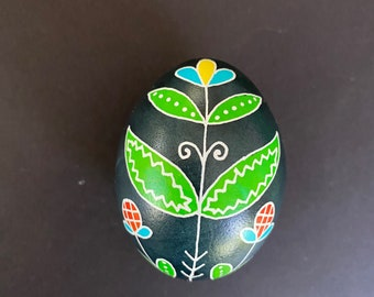Blue/Green/Red/Yellow Pysanky Chicken Egg