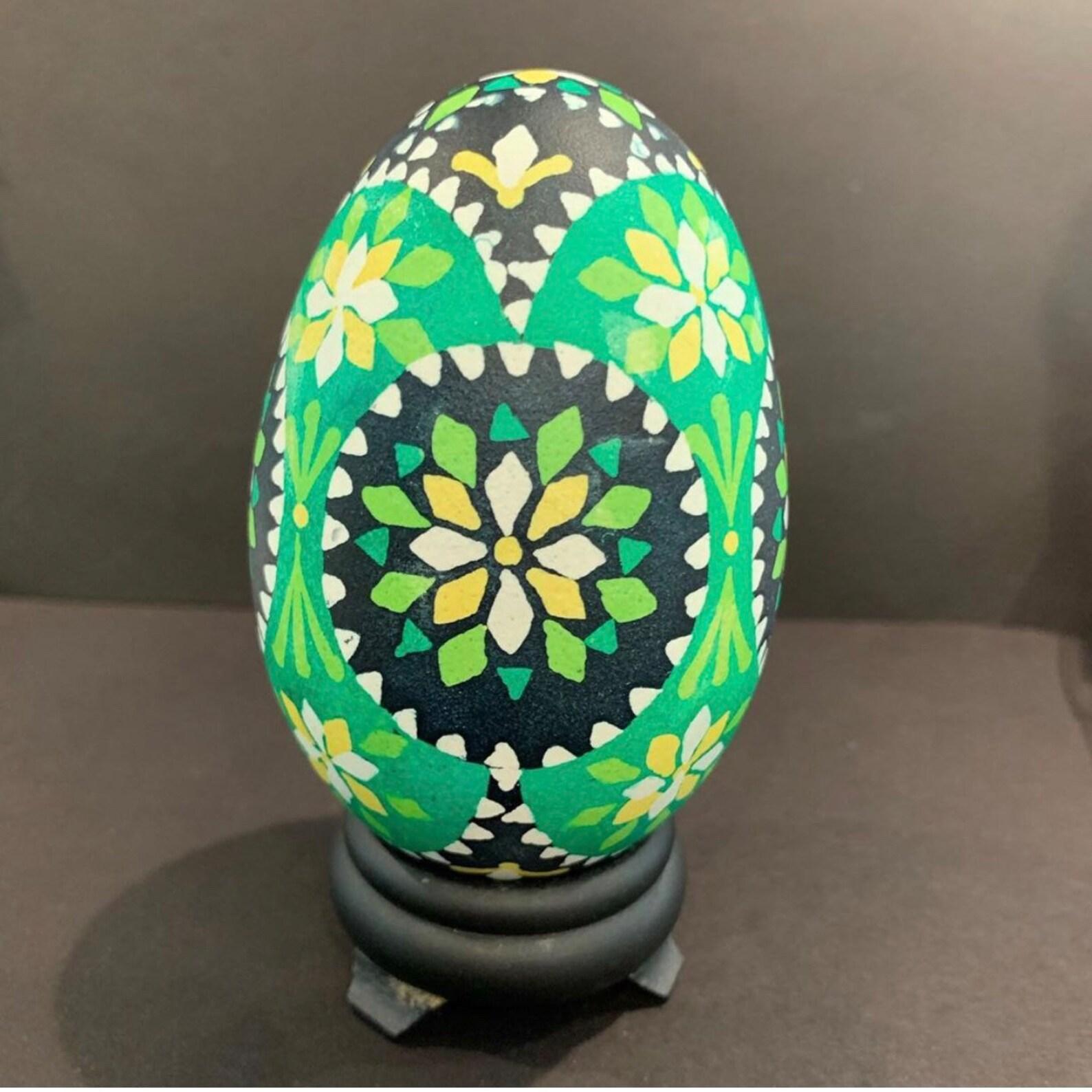 Green & Yellow Sorbian Goose Egg