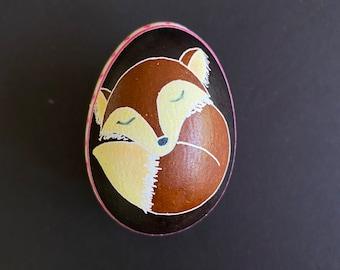 Fox Chicken Egg Pysanky