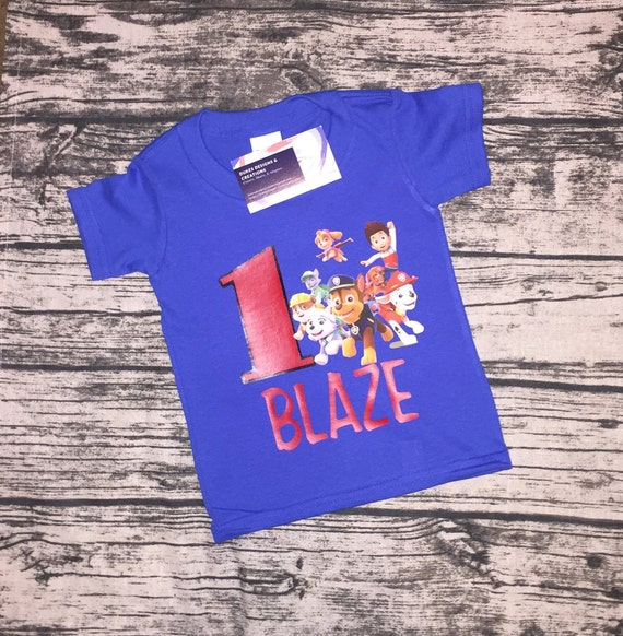 Paw Patrol Birthday Shirt Personalized Boy