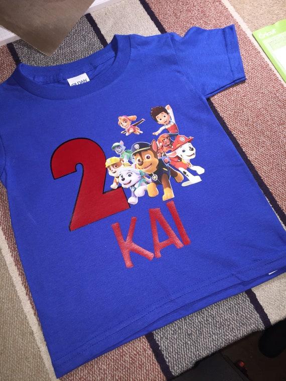 Paw Patrol Birthday Shirt Personalized Boy