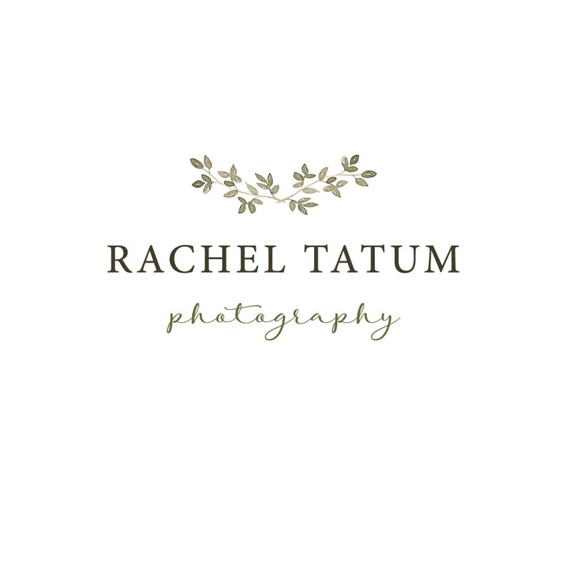 INSTANT DOWNLOAD Custom Premade Photography Logo and Watermark