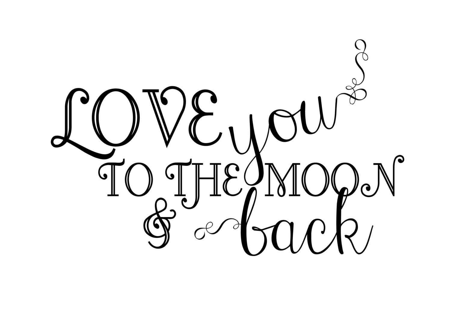 Instant Download Newborn Baby Word Art Overlay Love You Etsy