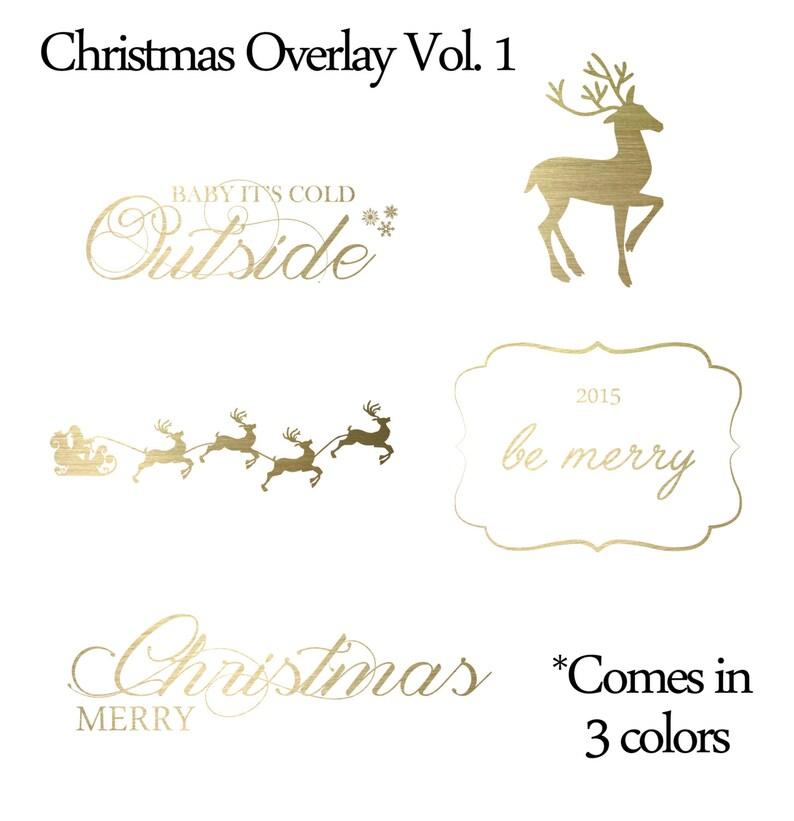 INSTANT DOWNLOAD Christmas Vol.1 Word Art Overlays Digital image 0