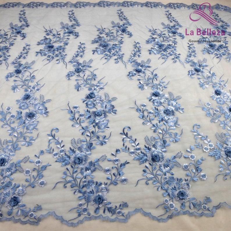 La Belleza 2020 new lace wedding dress lace,gown dress lace fabric 1 yard new 3D flowers lace fabric,7 colors lace fabric