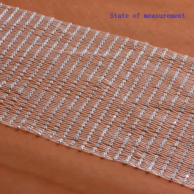 White cystal Extensible net lace triming Extensible 2 yardslot